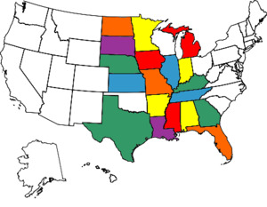 visited states map march 2014