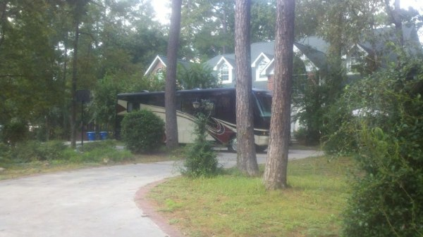 Mansion in Conroe, TX. The RV we were trying to buy is in front.