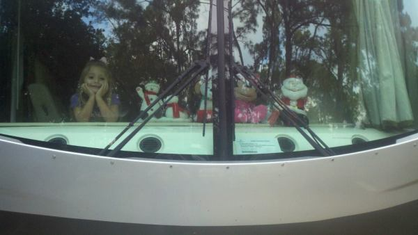 Madisyn and her Christmas buddies.