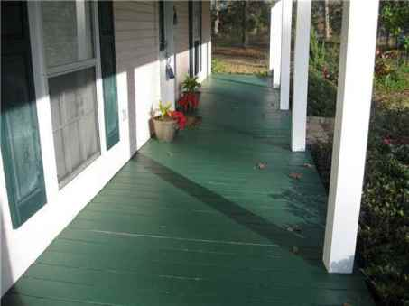 This is our front porch and columns after a fresh coat of paint!