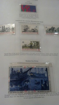 A page from the un-cancelled stamp album from the 1970s