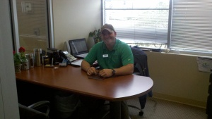 Our son Chip in his office at Dixie RV