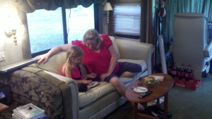 Madisyn and Grannie having one last visit