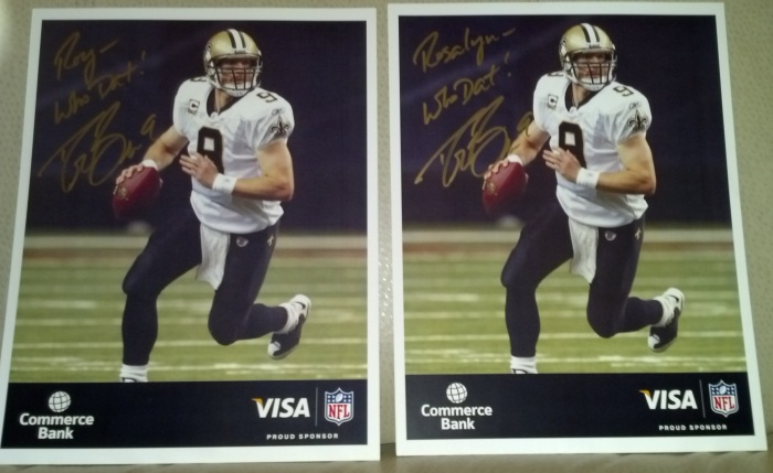 drew brees autographed picture
