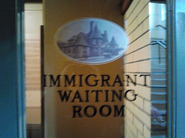 immigrant waiting room
