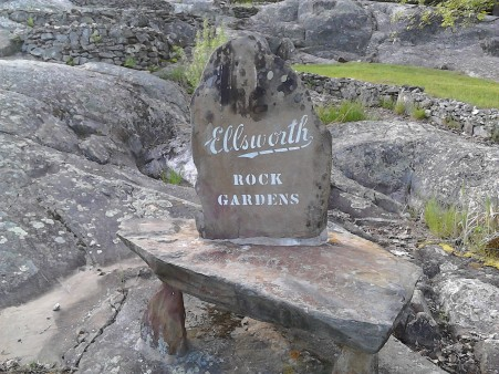 rock garden sign