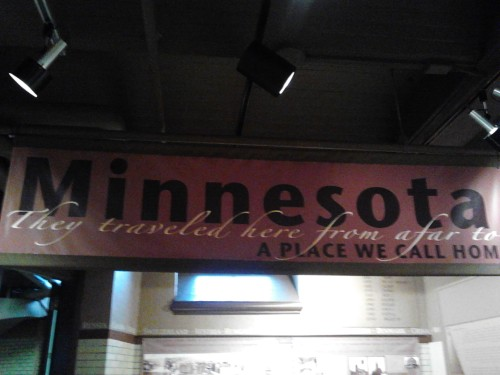 train minnesota sign