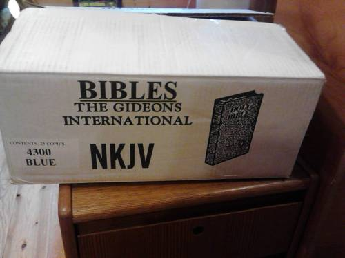 07 30 13 The Gideon Bibles Are Here Because He Lives