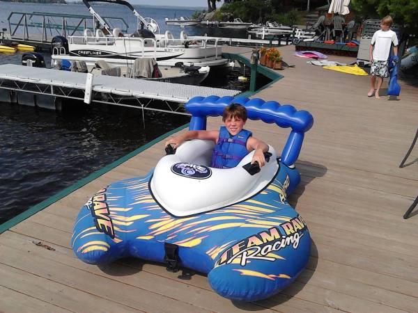 jay on boat