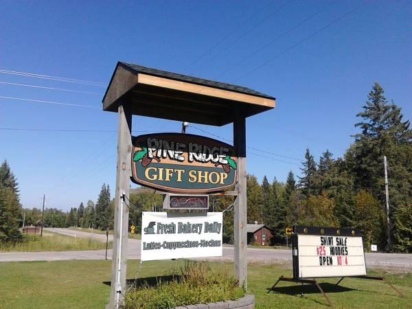 a pine ridge sign