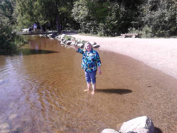 rosie in river