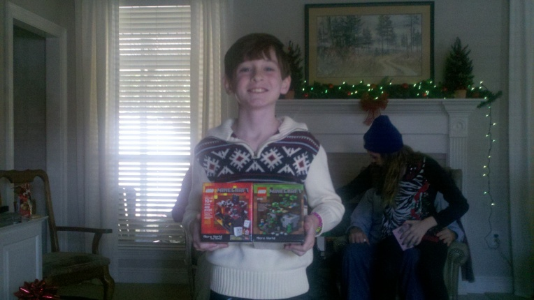 john with gifts