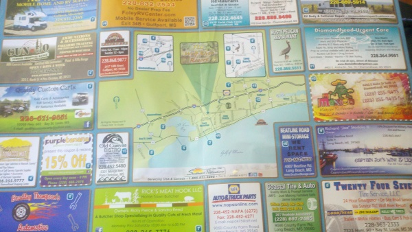 map with ads