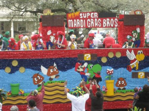 mardi gras truck float mario