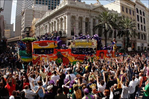 mardi gras truck float