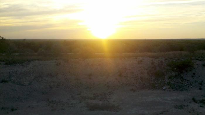 pit sunset