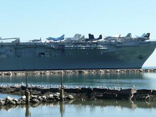 lexington planes on deck
