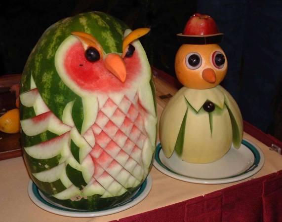 watermelon orange owls