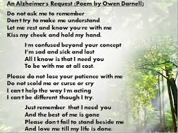 an alzheimers request by
