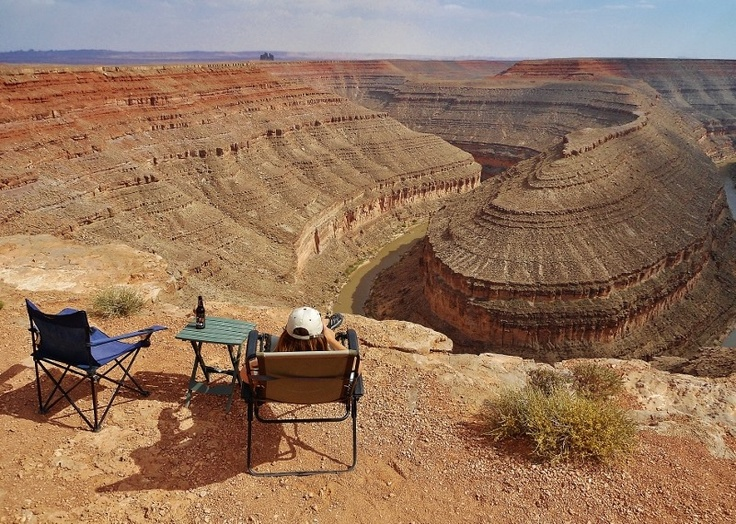 boondocking by edge of canyon
