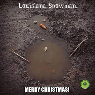 LOUISIANA SNOWMAN