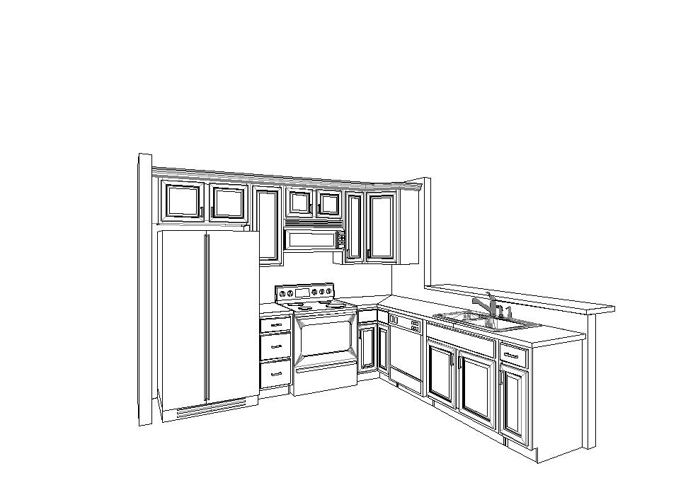 The Cabinetry And Counter Top Company, D L Cabinetry, Sent Us A Picture  This Morning Of What Our Kitchen Will Look Like.