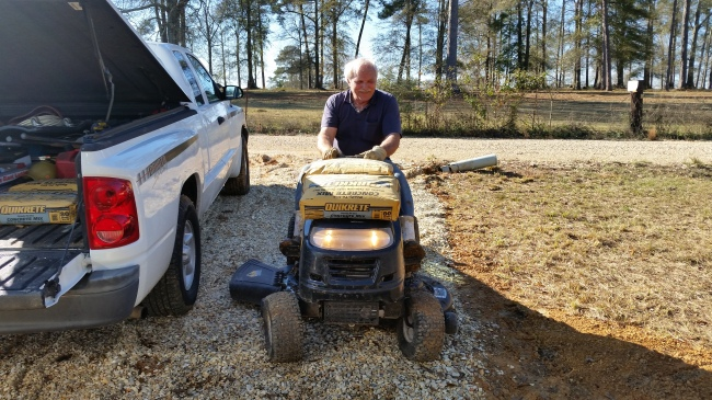 a roy cement lawnmower