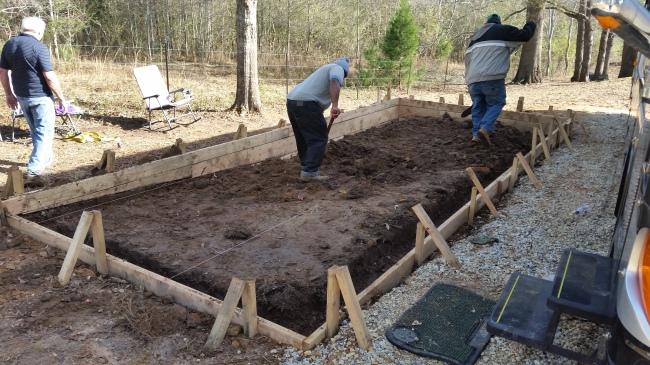 b patio digging