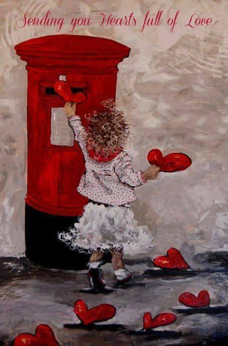 VALENTINES hearts by door
