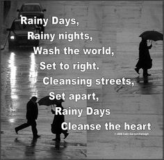rainy day cleanse heart