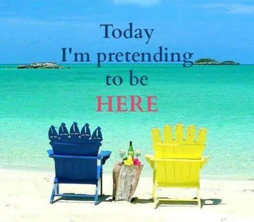 im pretending to be here beach