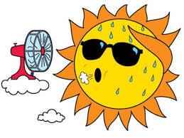 sun and fan