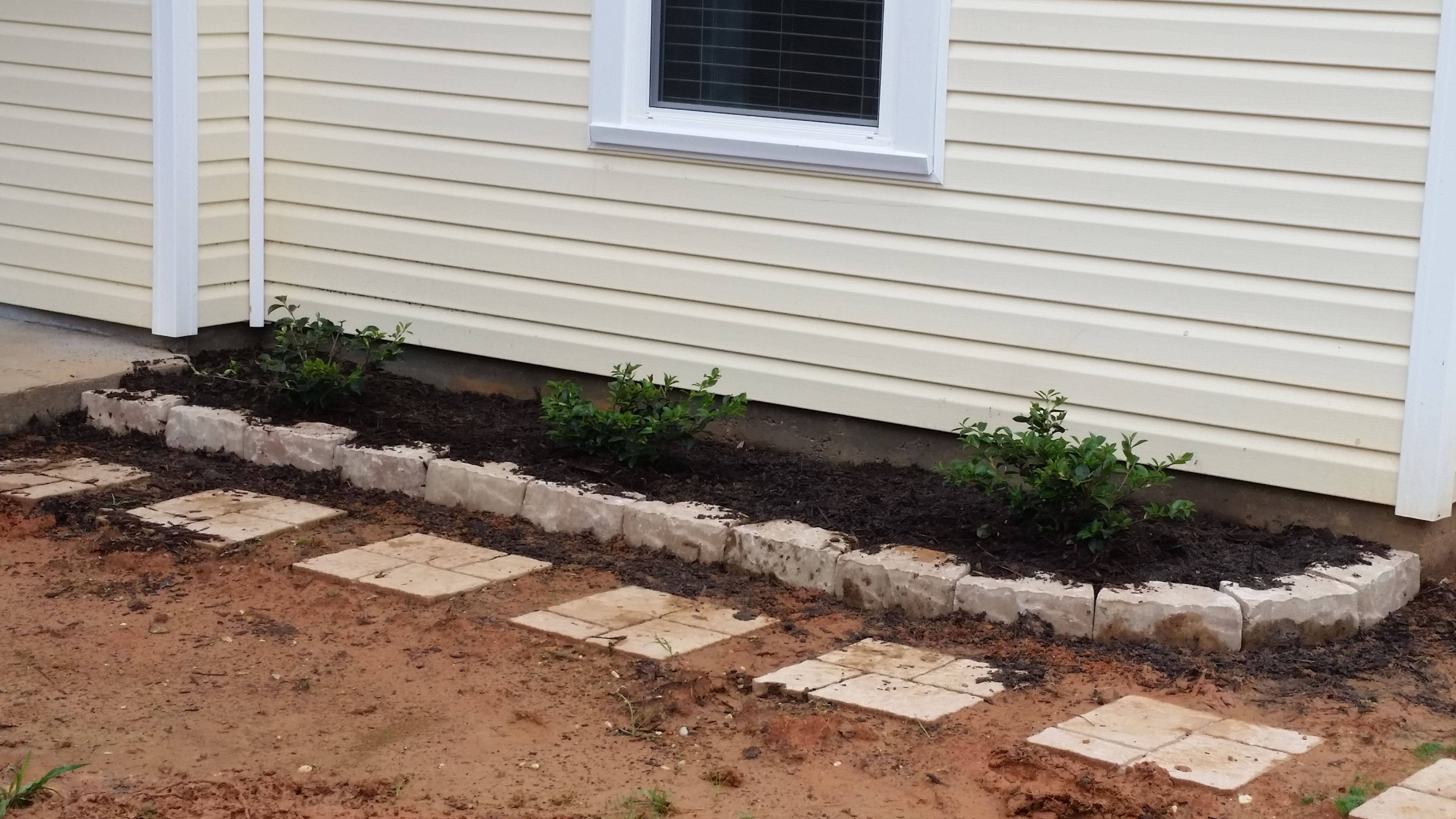 Garden Bricks Done On The Right Side!