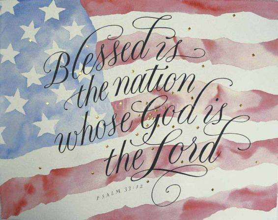 blessed is nation whos god is the lord