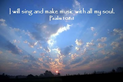 Music Sunset Photo With Scripture