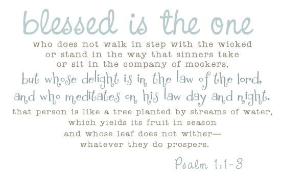 psalm 1 1 to 3