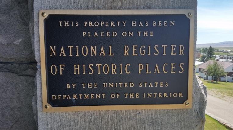 castle historic plaque