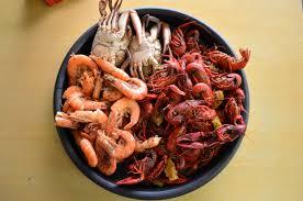 shrimp crawfish crabs