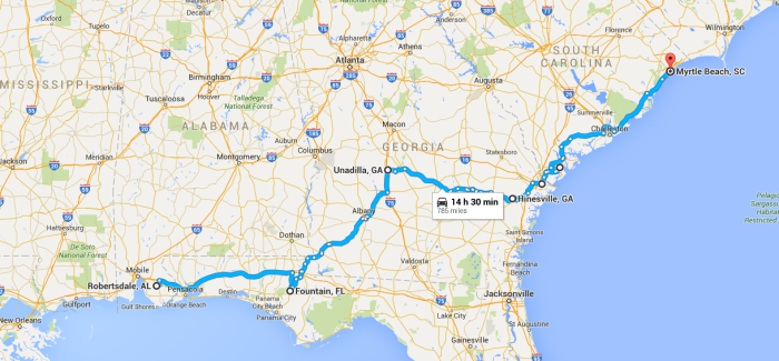 robertsdale to myrtle beach