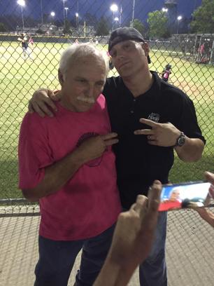 roy and chip at ball field