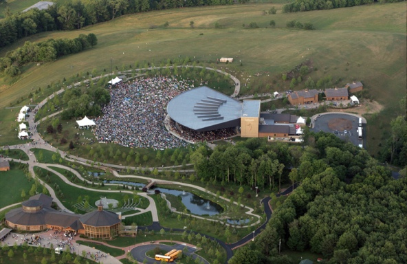 aerial of bethel woods