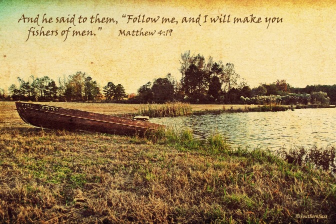 Boat with scripture