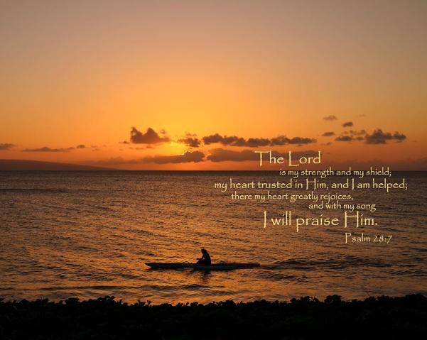 I will praise him psalm 28 7