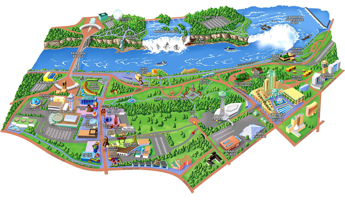 Niagara Falls Maps And Orientation Niagara Falls tario ON