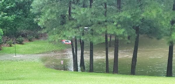 Pond overflowingt