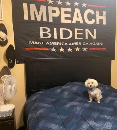 Impeach Biden flag